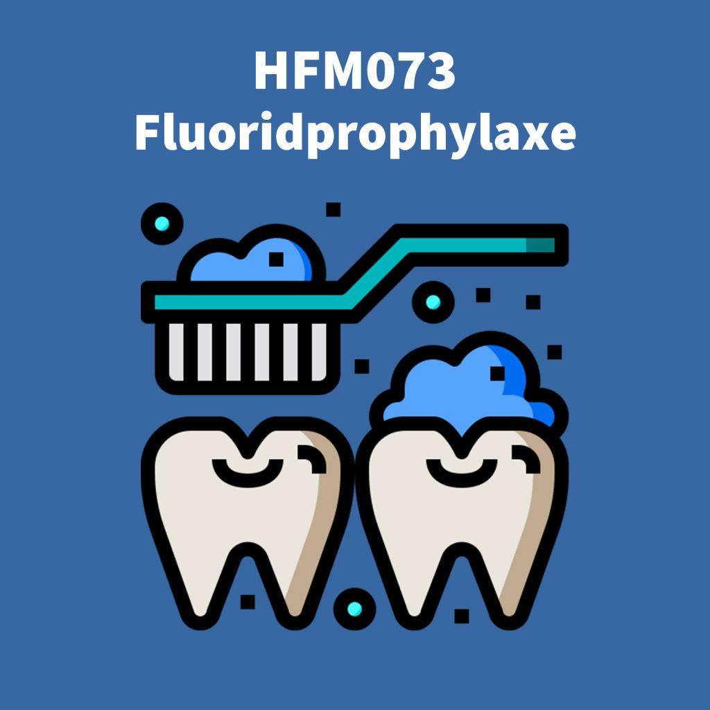 Cover Bild der Podcastfolge zur Fluoridprophylaxe von Hand, Fuß, Mund